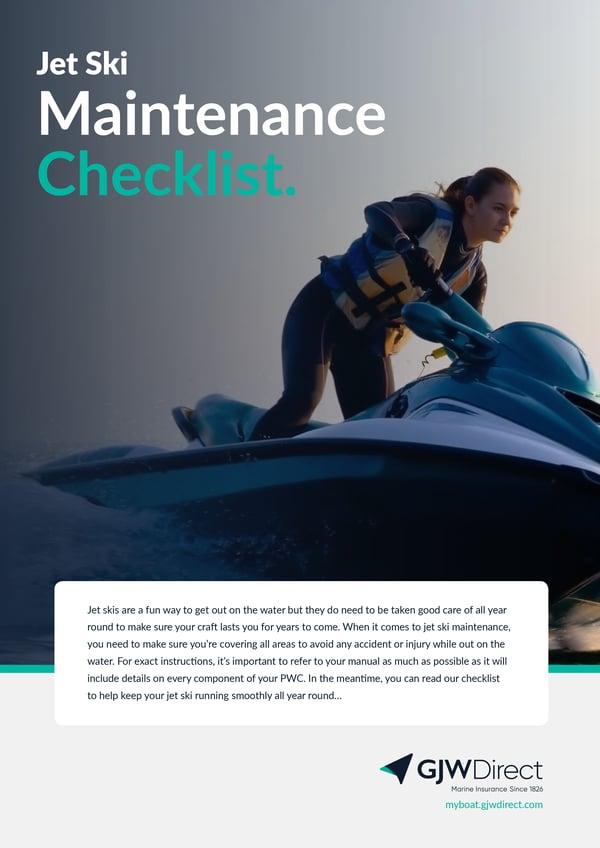 Jet Ski Maintenance Checklist