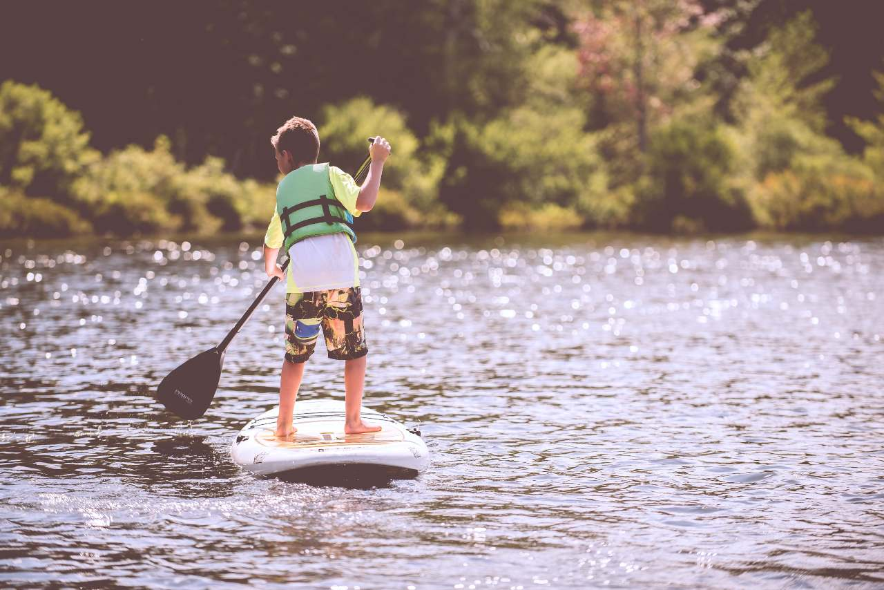 small boy on paddle board (1)